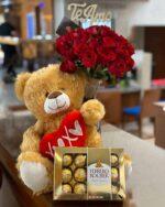 Peluche con flores florerias en Pachuca, Envío de flores a domicilio Pachuca