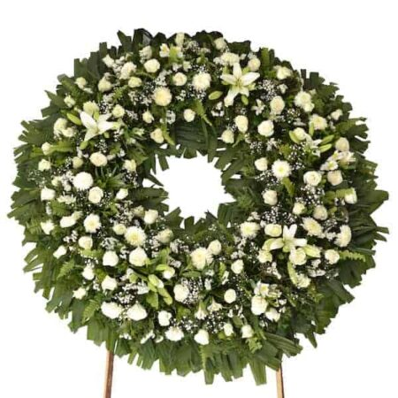 corona de flores condolencias