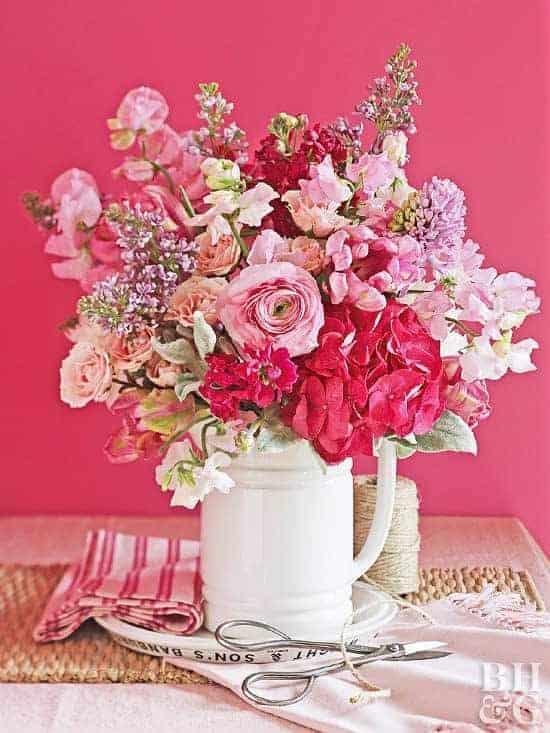 arreglos florales rosas
