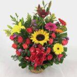 Canasta de flores, florerias en Pachuca, envio de flores a domicilio Pachuca.