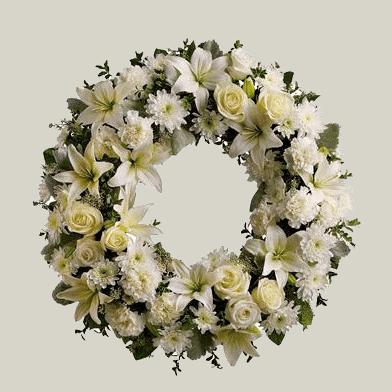 Corona de flores en Pahcuca