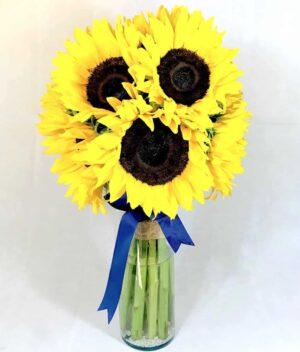 ramo de girasoles - florerías en pachuca - flores a domicilio