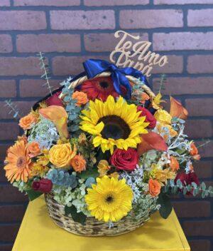 Canasta de flores - Florerias en Pachuca
