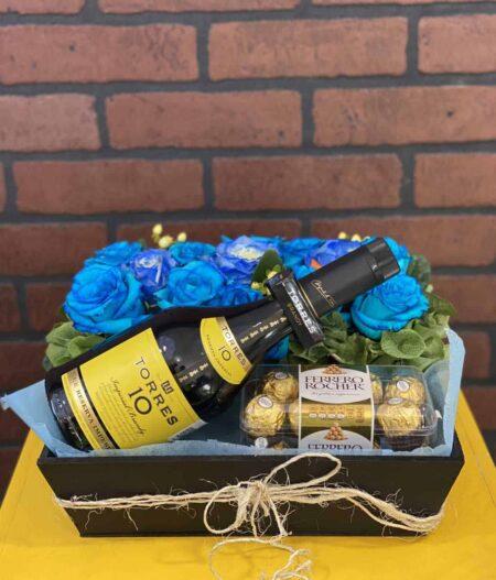Canasta para hombre, florerias en Pachuca, Envío de flores a domicilio Pachuca