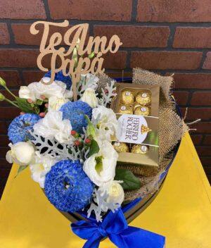 Caja de flores para hombre, florerias en Pachuca, Envío de flores a domicilio Pachuca